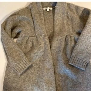 VINCE S top Sweater gray Cashmere Open Cardigan